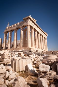 The Parthenon, Athens, Greece. When I was in primary school there was a professor Named Mr Osuna. I used to walk his Collie and he turned me on to books on Greek Mythology. The stories were grand and full of action and adventure. Parthenon Greece, Athens Greece, Places To Travel, Places To See, Places Around The World, Around The Worlds, Wonderful Places, Beautiful Places, Monuments