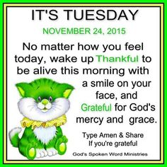 IT'S TUESDAY !!!! Bible Lessons For Kids, Bible For Kids, Quotes For Kids, Thank You Jesus, Jesus Loves You, Prayer Partner, Tuesday Quotes, Short Words, Happy Tuesday