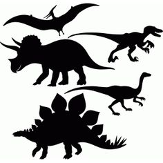 Silhouette Design Store: Dinosaurs Set 2 dinosaurs set 2 by StudioIlustrado Design ID Published: Regular cut Silhouette Design, Silhouette Cameo Projects, Festa Jurassic Park, Dinosaur Silhouette, Dinosaur Activities, Dinosaur Birthday Party, Shadow Puppets, Scroll Saw Patterns, Art Plastique