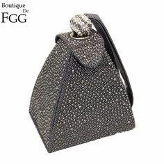 9feb35da0 diamante do vintage nupcial do Material do Forro : Cetim Bolsas De Noite,  Cristais,