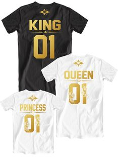 King and Queen 01 Princess 01 family t-shirts, Father Mother Daughter matching shirts, Dad Mom Daughter tees, Fathers Day gift ideas
