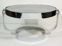Mid Century Modern Gucci Style Cocktail Table or Side Table | From a unique collection of antique and modern coffee and cocktail tables at http://www.1stdibs.com/furniture/tables/coffee-tables-cocktail-tables/