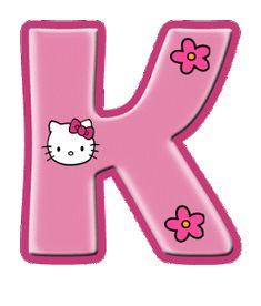 hello kitty letter K Hello Kitty Birthday Theme, Hello Kitty Themes, Hello Kitty Pictures, Kitty Images, Hello Kitty Imagenes, Free Calendar Template, Hello Kitty Wallpaper, Cat Party, Alphabet And Numbers