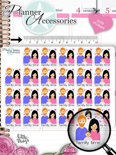 Family Time Stickers Family Stickers Planner von EmelysPlannerShop