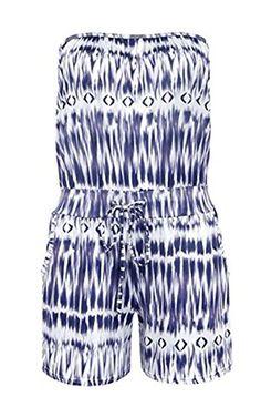 Loveparadise Loveparadise Women's Sleeveless Casual Short Rompers Jumpsuit Elastic Waist Beach Playsuit