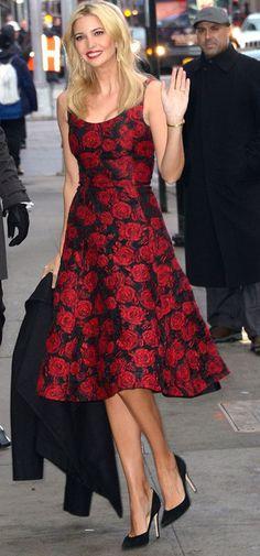 Black And Red Rose Print Maxi Dress