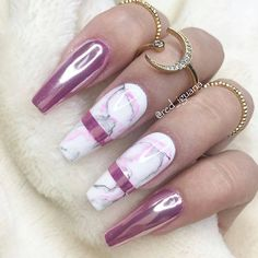 Rose gold with Marble