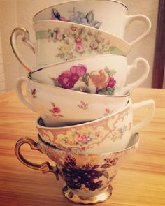 Leaning tower of teacups!