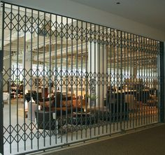 Metal Security Gates offer employee safety measures, ventilation ...
