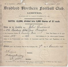 England, Bradford Northern Football Club Ltd
