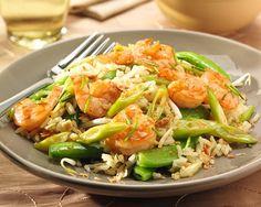 Nasi met sugar snaps & Sweet Chili garnalen Kung Pao Chicken, Chili, Ethnic Recipes, Food, Sugar, Chili Powder, Chilis, Meals, Chile