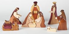 best scroll saw patterns Diy Nativity, Christmas Nativity Scene, Diy Christmas Ornaments, Nativity Sets, Christmas Deco, Holiday Crafts, Beginner Woodworking Projects, Woodworking Patterns, Woodworking Crafts