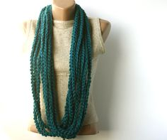 Teal infinity scarf, I love this so much!