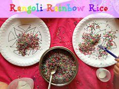 Rangoli rice art #diwali