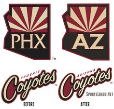 These are only two changes to the logos of the Coyotes to come with the name change