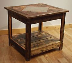 barnwood mosaic end table