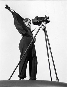 Dorothea Lange And Zeiss Jewell Camera, 1937, photo by Rondal Partridge: