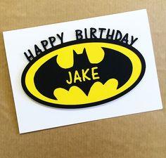 Batman Birthday Card - Papercut Hand Made Blank Card - Greetings Card - Can Be Personalised