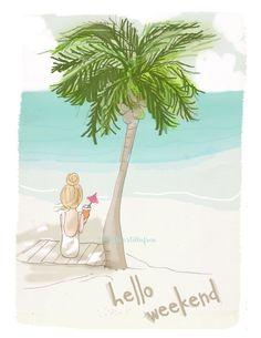 Wandkunst für Frauen  nach dem Palm Trees  von RoseHillDesignStudio
