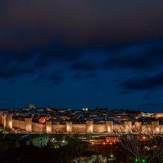 Avila at Night - photograph by Joan Carroll via @joancarroll #spain #travel
