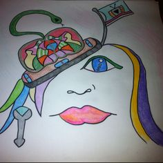 #drawing  If psychosis was a hat, how would you wear that?  #fashion