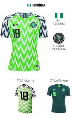 As camisas das 32 seleções da Copa db43f3a587c2d