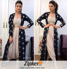 b9ae0d0dbfe Gorgeous parineeti chopra in new western style patiala dress. To her look  visit us now