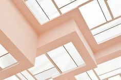 Pleasing and high quality images of all sorts of interiors and exteriors Even large spaces make me think of something smaller / Colour Architecture, Architecture Details, Interior Architecture, Plafond Rose, Robert Mallet Stevens, Plafond Design, Joinery Details, Pastel Room, Style Deco