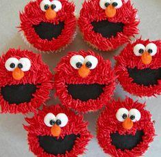 making elmo cupcakes for christians bday:)! Sesame Street Birthday Cakes, Elmo Birthday Cake, Sesame Street Cake, 2nd Birthday Parties, Birthday Fun, Sesame Street Cupcakes, Birthday Ideas, Elmo Cupcakes, Elmo Cookies
