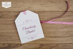 Wedding, alcohol labels on the bottle, made of pearl paper with rose, pink ribbon. / Zawieszka na alkohol na różowej wstążce wykonana z perłowego papieru.