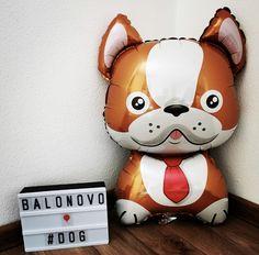 Foil balloon - Bulldog (brown)