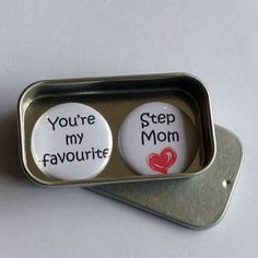 A lovely gift for us Step Moms on Mothers Day Gifts For Mum, Cute Gifts, Best Gifts, You're My Favorite, My Favorite Things, Tin Gifts, Mothers, Birthday Cards, Mom