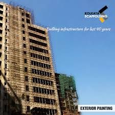 An important application of scaffolding is to use it during exterior painting.This ensures quality work and safety and security of workers.