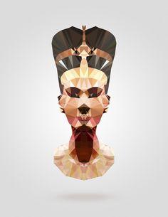 Polygon Heroes - Nefertiti by TheBlackeningCo