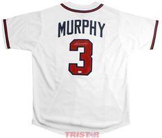 8ccdac13848 Dale Murphy Signed Autographed Atlanta Braves Custom White Jersey JSA COA