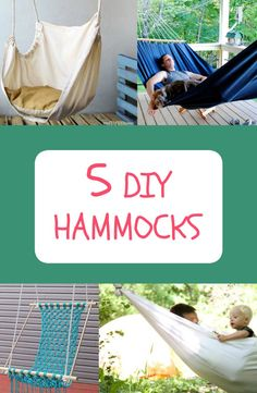 Make your own hammock with these easy DIY projects