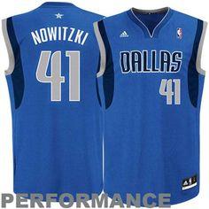 Youth Dallas Mavericks Dirk Nowitzki addidas Royal Blue Replica Road Jersey Size Youth Large
