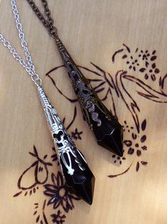 White Magick Alchemy - Witching Hour Silver Age ~ Crystal Magickal Prism Divination Pendulum Necklace ~ Bronze Filigree Pendant 30 inch, $32.00 (www.whitemagickal...)