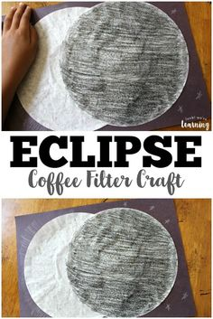 This fun coffee filter solar eclipse craft is a wonderful outer space activity for kids! via @lookwerelearn