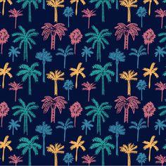 Palm Grove Textile Patterns, Textile Prints, Print Patterns, Graphic Patterns, Pattern Print, Graphic Design, Palm Tree Leaves, Palm Trees, Neoprene Laptop Sleeve