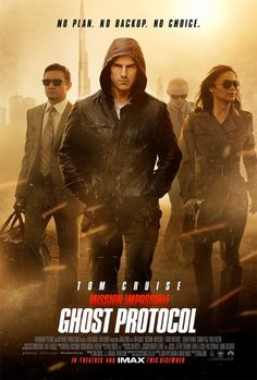 Mission:Impossible: Ghost Protocol (2011) directed by Brad Bird, written by Josh Appelbaum and André Nemec (based on the television series by Bruce Geller)