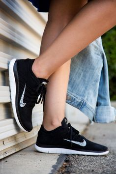 Black  and White Nike Flyknit Sneakers