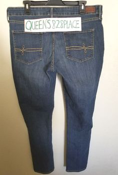 ed07a0eed4484 Denizen from Levis Womens Plus Size 18 M Stretch blue Modern Skinny Jeans  Denim