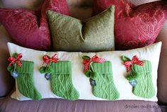 Dimples and Tangles: Pottery Barn Stocking Pillow Knock-Off