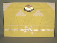 Vintage Bright Yellow  M I B Linen Tablecloth by JewelsThings, $25.00 #teamsellit