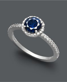 Effy Collection. The blue sapphire is stunning in this ring! Symbol of forever lasting love. <3