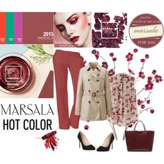 Spring In Marsala by farka-id on Polyvore featuring Uniqlo, L.K.Bennett and Givenchy