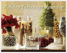 holiday tablescape idea.