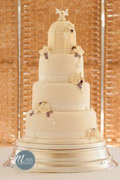 Vintage bird cage wedding cake by Miss Ingredient