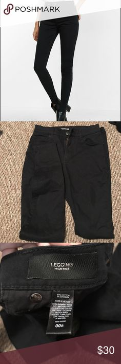 Express high waisted twill leggings. Only wore a couple times at a job I had. Super stretchy and comfy but still look dressy enough for business casual. Excellent condition. They are still available on the express website so very new style still. Express Pants